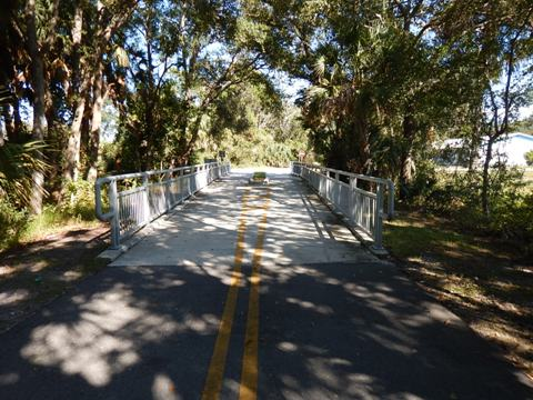 Florida biking, Volusia County, East Central Rail Trail, Edgewater