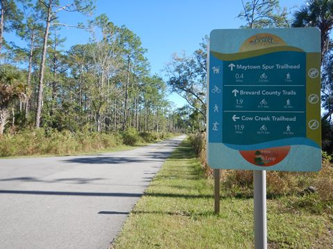 Florida biking, East Central Rail Trail, Maytown