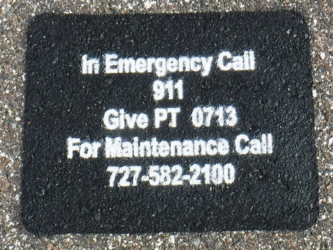 Pinellas Trail emergency decal